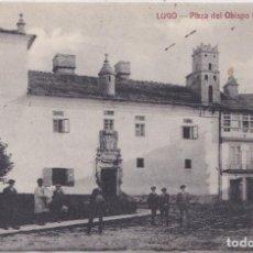 Postales: LUGO - PLAZA DEL OBISPO IZQUIERDO - EDICION ROGELIO NOMDEDEU. Lote 220621498