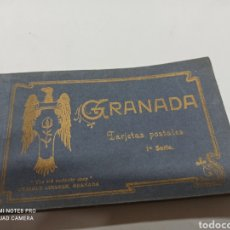 Postales: BLOC DE 24 TARJETAS POSTALES DE GRANADA - 1ª SERIE - ED. ENRIQUE LINARES THE OLD CURIOSITY SHOP. Lote 221119802