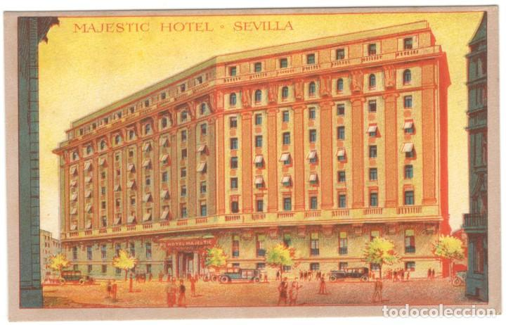 POSTAL - SEVILLA - MAJESTIC HOTEL. SIN CIRCULAR. (Postales - España - Andalucía Antigua (hasta 1939))