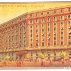 Postales: POSTAL - SEVILLA - MAJESTIC HOTEL. SIN CIRCULAR.. Lote 221308181