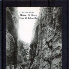 Postales: POSTAL VISTA DE MALAGA (EL CHORRO)-EDICIÓN RAFAEL TOVAR DE MALAGA-NUEVA SIN CIRCULAR .. Lote 221450357