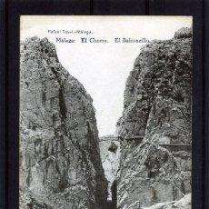 Postales: POSTAL VISTA DE MALAGA (EL CHORRO)-EDICIÓN RAFAEL TOVAR DE MALAGA-NUEVA SIN CIRCULAR .. Lote 221451617