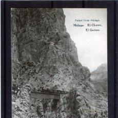 Postales: POSTAL VISTA DE MALAGA (EL CHORRO)-EDICIÓN RAFAEL TOVAR DE MALAGA-NUEVA SIN CIRCULAR .. Lote 221452425
