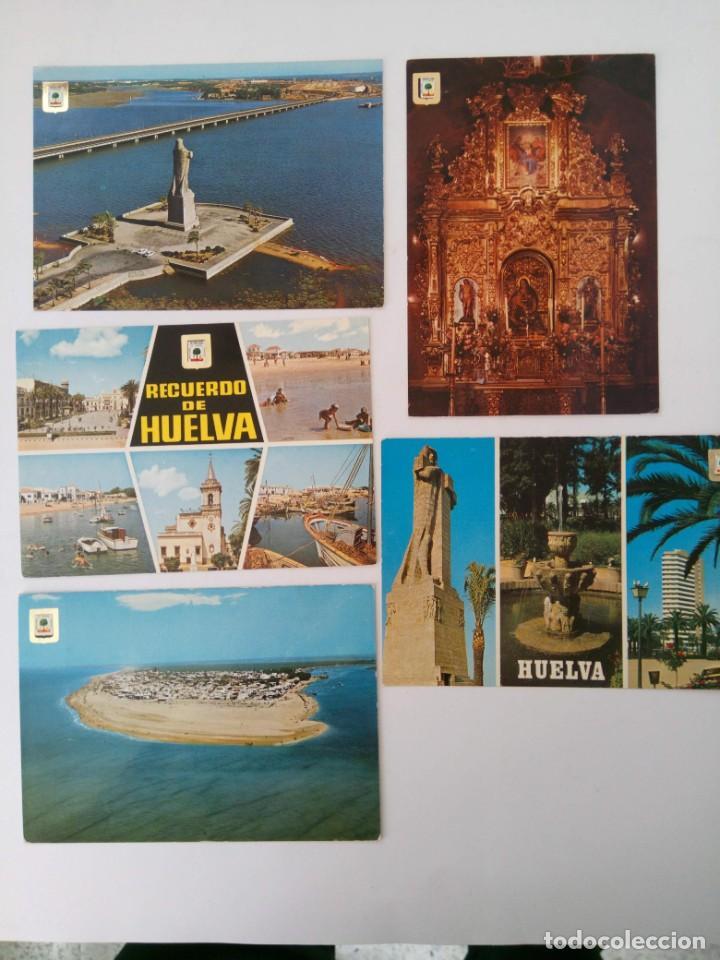 Postales: LOTE 10 POSTALES HUELVA - Foto 2 - 221471506