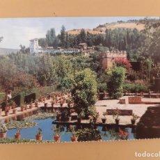 Postales: TARJETA POSTAL ALHAMBRA GRANADA JARDINES DEL PARTAL Y GENARIFE SIN CIRCULAR. Lote 221520810