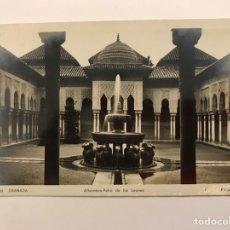 Postales: GRANADA. POSTAL NO.135, ALHAMBRA-PATIO DE LOS LEONES . EDIC. ROISIN (H.1950?) S/C. Lote 221619142