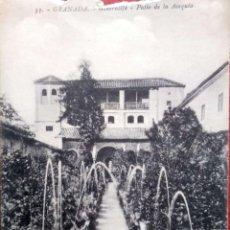 Postales: GRANADA. 33 GENERALIFE. PATIO DE LA ACVEQUIA. ABELARDO LINARES. NUEVA. BLANCO/NEGRO. VER FOTO. Lote 221635546