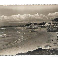 Postales: MARBELLA -MALAGA -ANTIGUA POSTAL -DE LA PLAYA DEL FARO - FOTO- BELON LIMA- NUEVA AÑOS 60. Lote 221658926