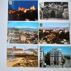 Postales: 6 POSTALES DE GRANADA AÑOS 50 Y 60.. Lote 221705158
