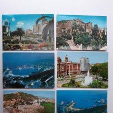 Postales: 6 POSTALES DE MALAGA AÑOS 60. Lote 221705555