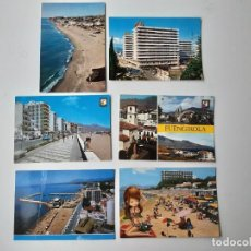 Postales: 6 POSTALES DE FUENGIROLA, MARBELLA Y TORREMOLINOS AÑOS 60. Lote 221705916