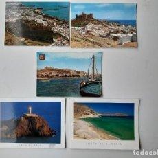 Postales: 5 POSTALES DE ALMERIA AÑOS 60 Y 2000. Lote 221706450