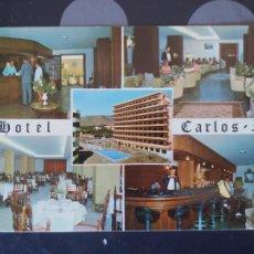 Postales: POSTAL HOTEL CARLOS I, TORREMOLINOS (MALAGA). Lote 221814233
