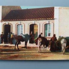 Postales: POSTAL LA LINEA DE LA CONCEPCION VENDEDORES DE CARBON CADIZ EDICV.B. CUMBO GIBRALTAR PERFECTA CONSER. Lote 221824696