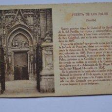 Postales: POSTAL. SEVILLA. PUERTA DE LOS PALOS. ED. CAYÓN. NO ESCRITA.. Lote 221839063