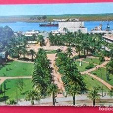 Postales: HUELVA. MUELLE Y JARDINES.. Lote 221883450