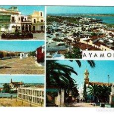 Postales: AYAMONTE - HUELVA - VISTAS - EDICIONES ARRIBAS Nº 2011. AÑO 1966. ESCRITA S/C. Lote 221992917