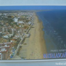 Postales: POSTAL DE MATALASCAÑAS ( HUELVA ), COSTA DE LA LUZ : PASEO MARITIMO. Lote 222053722