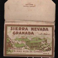 Postales: BLOC DE 20 POSTALES DE SIERRA NEVADA - GRANADA ALT, 3482 M. SERIE 2 DESPLEGABLE TIPO ACORDEÓN. Lote 222130078