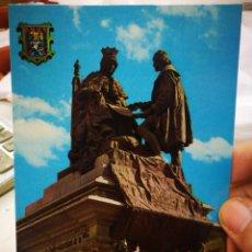 Postales: POSTAL GRANADA MONUMENTO A ISABEL Y CRISTÓBAL COLÓN SERIE 45 N 625 ZERKOWITZ ESTADO REGULAR. Lote 222664981