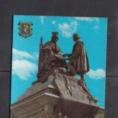 Postales: Nº 626.- GRANADA. MONUMENTO ISABEL LA CATÓLINA Y CRISTOBAL COLÓN. Lote 222736512