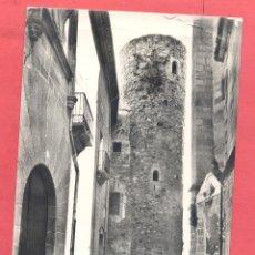 Postales: CACERES 8 TORRE DE LA CASA QUEMADA O CARVAJAL, HELIOTIPIA A.E. CIRCULADA 1970, CURIOSO REVERSO. Lote 223000876
