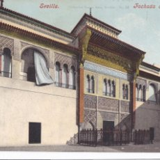Cartes Postales: SEVILLA FACHADA DEL ALCAZAR. ED. PURGER & CO MUNCHEN COLECCION TOMAS SANZ Nº 16. Lote 223010601