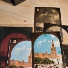 Postales: SEVILLA .- PATIO BANDERAS Y GIRALDA / NEGATIVOS Y PRUEBAS DE COLOR / EDICIONES PERGAMINO. Lote 223481221