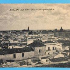 Postales: TARJETA POSTAL DE JEREZ DE LA FRONTERA - VISTA PANORÁMICA.. Lote 223740451