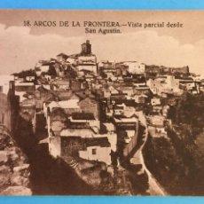 Postales: TARJETA POSTAL DE ARCOS DE LA FRONTERA - VISTA PARCIAL DESDE SAN AGUSTÍN.. Lote 223746822