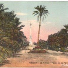 Postales: HUELVA. LA RÁBIDA - PASEO DE LA PALMERA.SIN CIRCULAR.. Lote 225121886