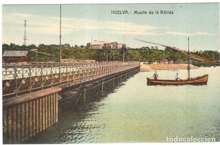 HUELVA. MUELLE DE LA RÁBIDA. SIN CIRCULAR. (Postales - España - Andalucía Antigua (hasta 1939))