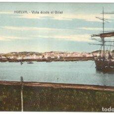 Postales: HUELVA. VISTA DESDE EL ODIEL. C.R.S. Nº 8. SIN CIRCULAR.. Lote 225125118