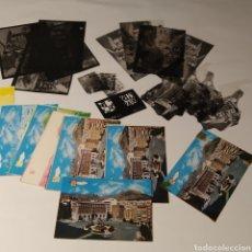 Postales: ¡IRREPETIBLE! JAÉN, PLAZA DE JOSÉ ANTONIO EL PERGAMINO 5283 LOTE DE CLICHÉS + PRUEBAS + POSTAL. Lote 225859395