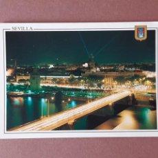 Cartoline: POSTAL 53 DOMÍNGUEZ. FISA. VISTA NOCTURNA. SEVILLA. 1992. SIN CIRCULAR.. Lote 227231826