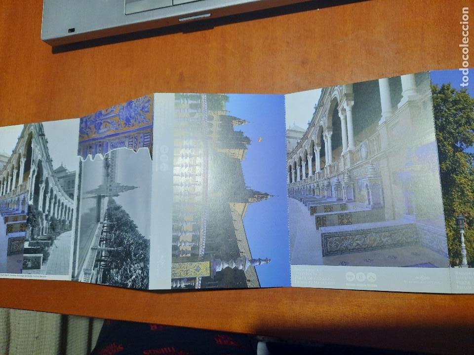 PLAZA DE ESPAÑA. PARQUE MARIA LUISA. TIRA DE POSTALES Y FOTOS. SIN CIRCULAR. BUEN ESTADO. DIFICIL (Postales - España - Andalucia Moderna (desde 1.940))