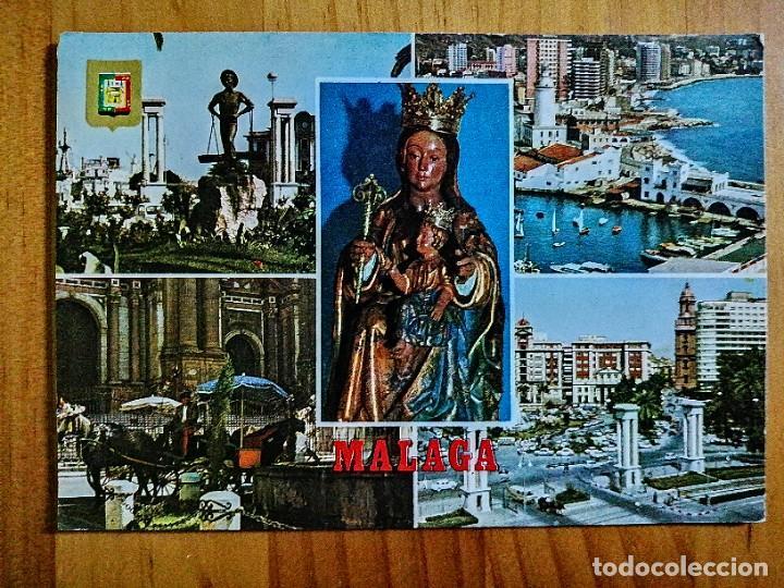POSTAL - MÁLAGA (COSTA DEL SOL) - DIVERSOS ASPECTOS. (Postales - España - Andalucia Moderna (desde 1.940))