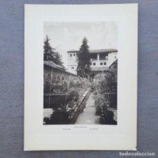 Postales: GRAN FOTOGRAFIA/FOTOTIPIA IMPRESA GENERALIFE GRANADA FOTO OTTO WUNDERLICH. Lote 229741735