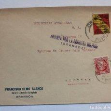 Postales: CARTA CON FRANQUEO SELLO Nº 686 30CTS. Y 5 CTS SW ASOC.DE LA CARIDAD VIVA ESPAÑ GRANADA SEVILLA 1934. Lote 233764425