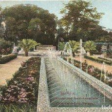 Postales: SEVILLA - EXPOSICION HISPANO AMERICANA - VISTA PARCIAL DEL PARQUE. Lote 233825935