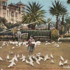 Postales: SEVILLA - EXPOSICION HISPANO AMERICANA - GLORIETA DE LAS PALOMAS. Lote 233831465