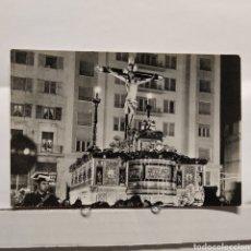 Postales: MÁLAGA SEMANA SANTA SANTÍSIMO CRISTO DE LA EXPIRACIÓN EN SU TRONO PROCESIONAL, GUARDIA CIVIL DE GALA. Lote 235349265