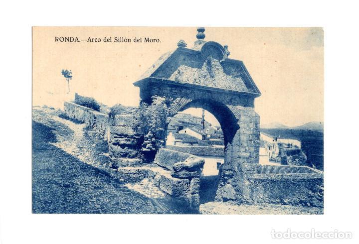 RONDA.(MÁLAGA).- ARCO DEL SILLÓN DEL MORO. (Postales - España - Andalucía Antigua (hasta 1939))