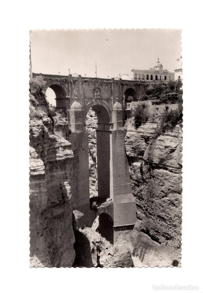 RONDA.(MÁLAGA).- EL TAJO. PUENTE NUEVO. (Postales - España - Andalucía Antigua (hasta 1939))
