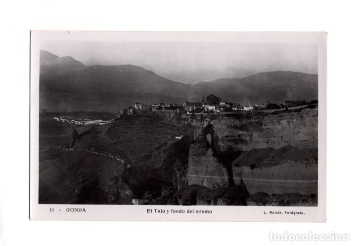 RONDA.(MÁLAGA).- EL TAJO Y FONDO DEL MISMO. (Postales - España - Andalucía Antigua (hasta 1939))