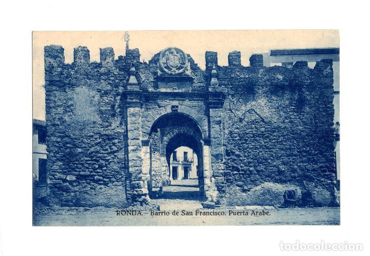 RONDA.(MÁLAGA).- BARRIO DE SAN FRANCISCO, PUERTA ARABE. (Postales - España - Andalucía Antigua (hasta 1939))