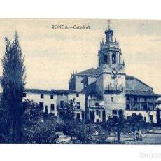 Postales: RONDA.(MÁLAGA).- LA CATEDRAL.. Lote 237574375