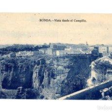 Postales: RONDA.(MÁLAGA).- VISTA DESDE EL CAMPILLO.. Lote 237574655