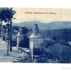 Postales: RONDA.(MÁLAGA).- MIRADOR DE LA ALAMEDA.. Lote 237574755