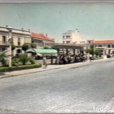 Postales: LA LINEA DE LA CONCEPCION - POSTAL - CADIZ - PARADA DE AUTOBUSES EN LA PLAZA GENERAL FRANCO - RARA. Lote 238103765